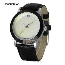 SINOBI Lujo de la Marca de Los Hombres Ocasionales de Pulsera de Cuero Relojes Hombres Japón Reloj de Cuarzo de Moda A Prueba de agua Reloj Relogio masculino SN9461