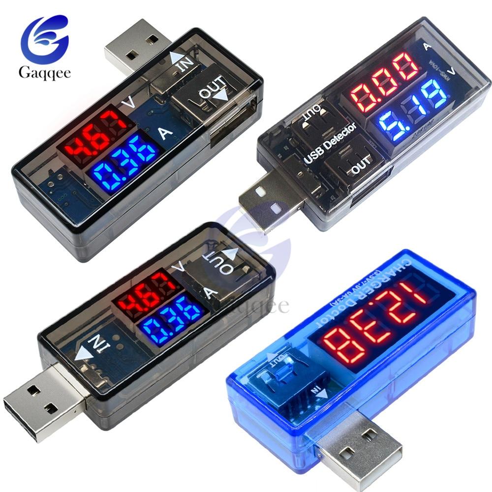 LED Digital Dual USB Port Current Voltage Charging Test Detector Tester Battery Voltmeter Ammeter Charger Doctor Meter Monitor