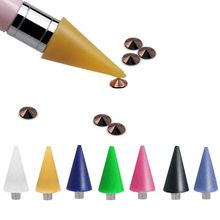 Nail Dotting Wax Pencil Replaceable Head Beads Rhinestones Gems Picker Self-adhesive Tips Picking for Brush
