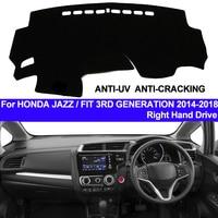 TAIJS Car Dashboard Cover Dash Mat For Honda Jazz Fit 3RD Generation 2014 2015 2016 2017 2018 Non-slip Right Sun Shade Carpet
