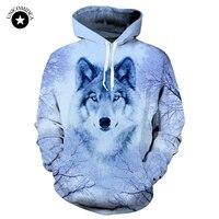 Wolf Printed 3d Hoodies Jackets Mens Sweatshirts Animal Pullover Plus Size Tracksuits Streetwear Unisex Long Sellve Autumn Coat