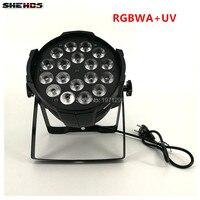 Aluminum Alloy LED Par 18x18W RGBWA UV 6in1 LED Par Can Par Led Spotlight Dj Projector