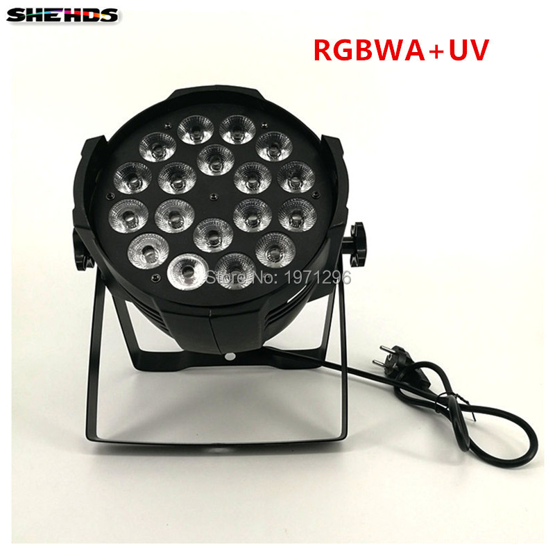 Aluminum alloy LED Par 18x18W RGBWA+UV 6in1 LED Par Can Par led spotlight dj projector wash lighting stage lighting