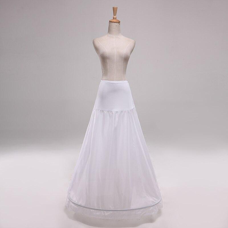 New arrival high waist 1 hoop petticoat a line wedding for Hoop underskirt for wedding dress
