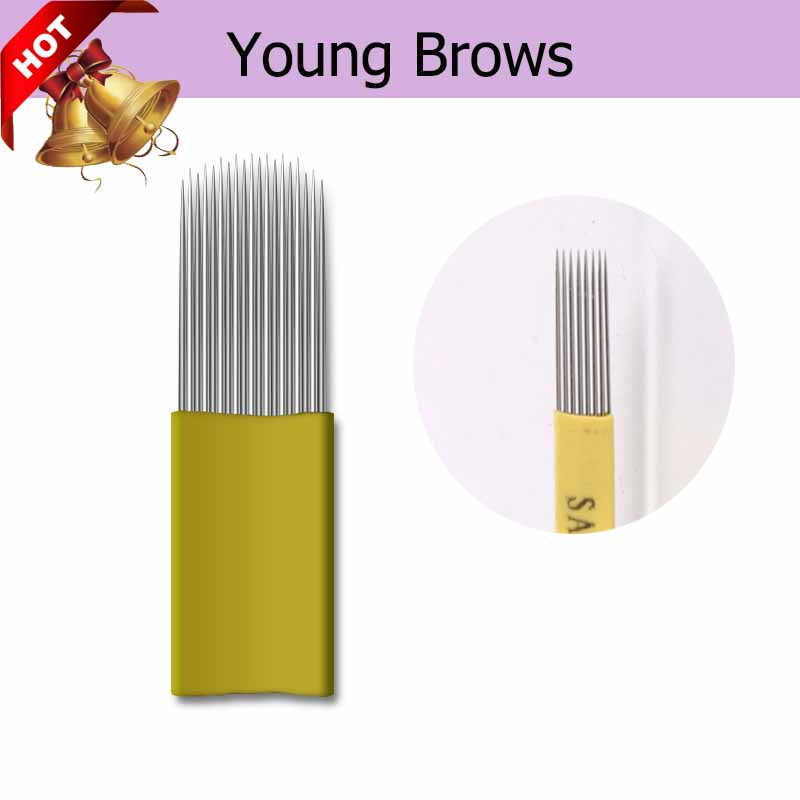500 pcs 15 Double Rows 0.22mm For shading Brows Best Selling For Shading Fast Delivery