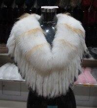 Jancoco Max S1017 New style Fashion Women 100 Real Fox Fur Bride Shawl wedding fur poncho
