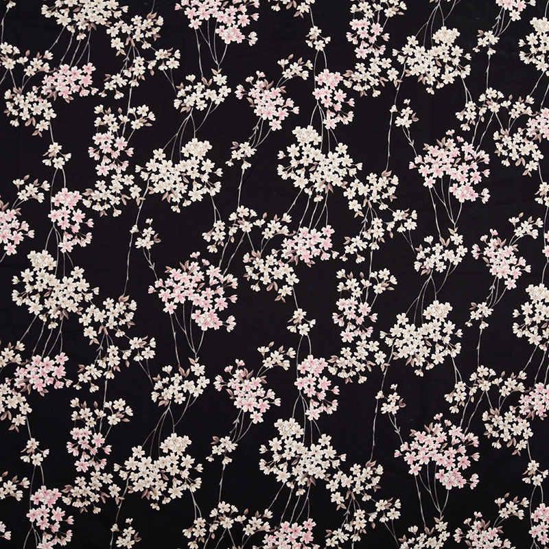 2 ألوان أزهار الكرز اليابانية المطبوعة نسيج القطن لفستان كيمونو حقيبة مفرش طاولة لتقوم بها بنفسك خليط tissu tissus عيد الميلاد