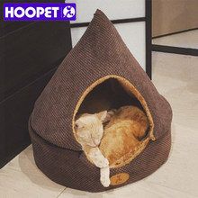 HOOPET Pet Dog Bed Cat Tent Dog House All Seasons Bed for dogs Dirt-resistant Soft Yurt Bed with Double Sided Washable Cushion(China)