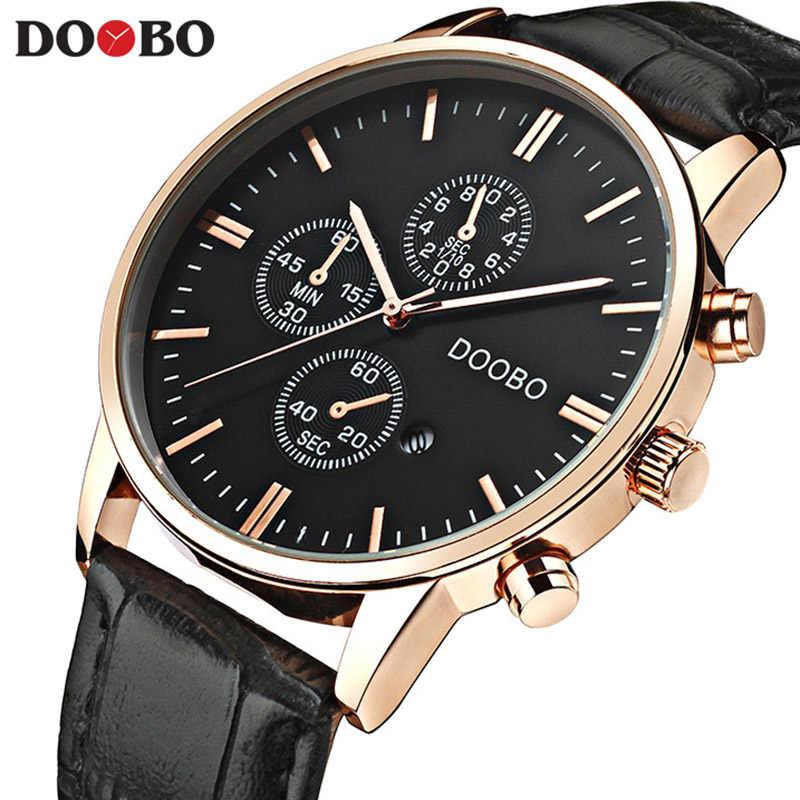 Мужские часы DOOBO, деловые мужские кварцевые наручные часы, мужские часы, Топ бренд класса люкс, Reloj Hombres, кожаные Наручные часы с календарем