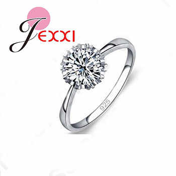 High Quality 925 Sterling Silver Jewelry Classic Engagement Ring 4 Size AAA CZ Crystal Ring Jewelry Free Shipping Hot Sale