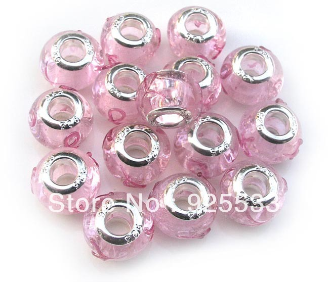 ROSE GOLD DEEP CORES 5.2 MM INSERTS FOR LARGE HOLE BEADS 2 STERLING SILVER