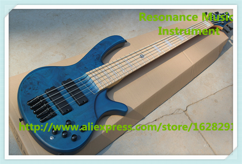 New Arrival Blue Rotted Grain Finish deOlivera 5 String Electric Bass Guitar As Pictures new arrival tele guitar matte black finish as jim root tl guitar locking knobs maple fingerboard real guitar pictures free ship