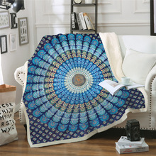 Sofa cushion Yoga mat Blanket Air Conditioner Thick Double-layer Plush 3D Digital Printed Mandala Series