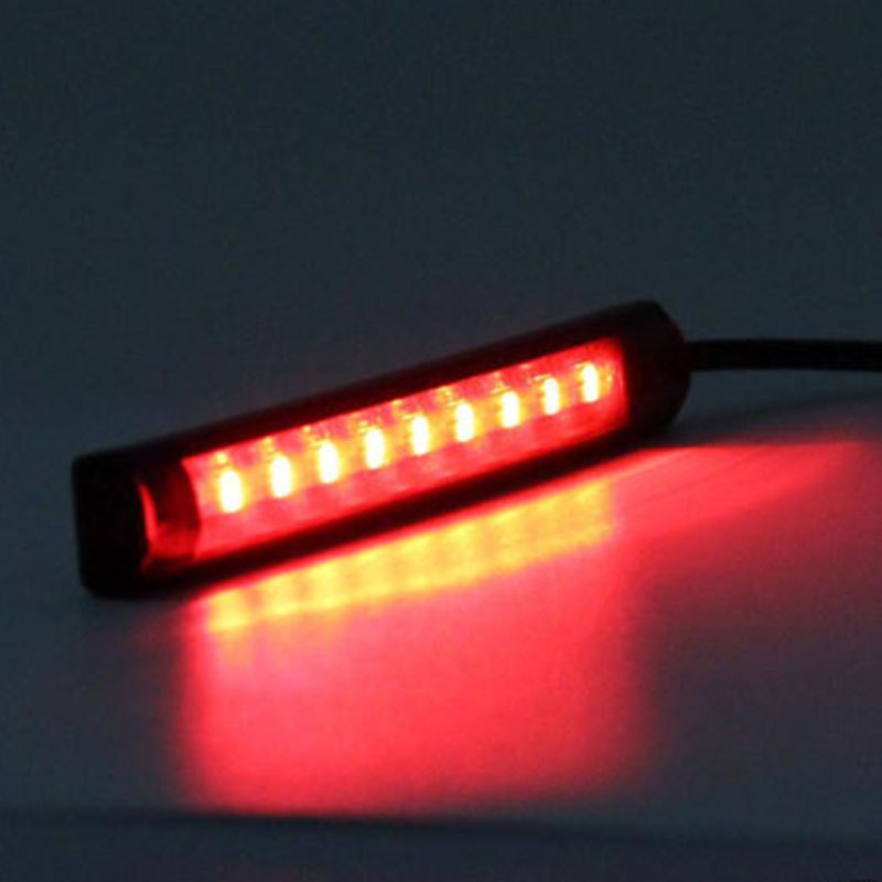 1pcs DC 12V Universal Flexible 18 SMD LED Motorcycle Tail Brake Stop Turn Signal Strip Light License Plate Lamp 12v led universal motorcycle tail brake light license plate lamp rear stop lamp for harley davidson for honda for suzuki