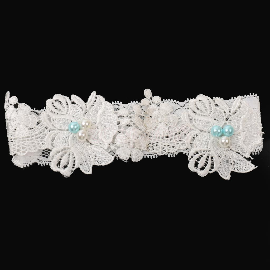 Stretchable Floral Flower Lace Bridal Wedding Garter Hen Night Party