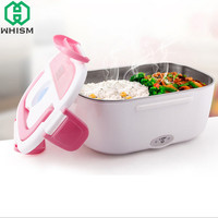 WHISM Portable Electric Bento Boxes 12V Heated Lunch Box Auto Car Plug Food Warmer Container For School Office Home Dinnerware
