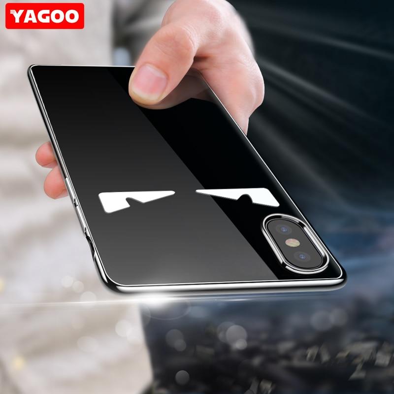 Pour Apple iPhone X Cas de couverture de silicone de luxe marque 360 antichoc pour iphone X cas iphoneX ultra mince mince original Yagoo funda