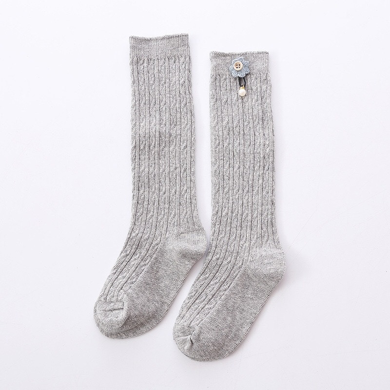 Cute Kids Knee High Socks for  Girls Baby Girls Exquisite Flower Cotton Princess Long Sock Children's Leg Warmer 1-5 Years 6