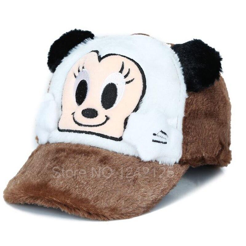 Nueva moda Primavera Otoño Invierno niños oso dibujos animados gorra de  béisbol caliente headwear imitación visón sombrero tapa de piel sintética  Niño ... 1c97f6f9fbf