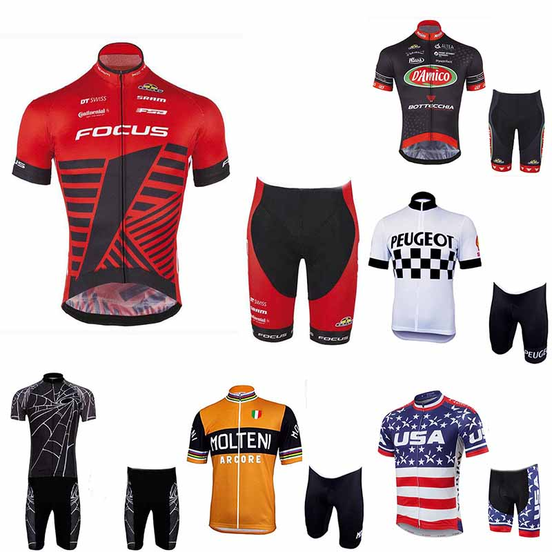 2018 NEW Cycling Jersey Quick Dry Short Sleeve Set High quality 9D Gel pad Cool Design Ropa Ciclismo Mountain bike man clothing