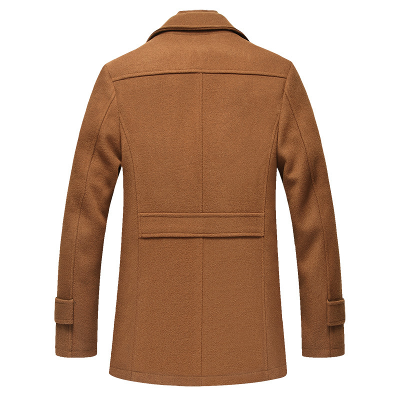 Image 5 - BOLUBAO Men Winter Wool Coat Men's New High Quality Solid Color Simple Blends Woolen Pea Coat Male Trench Coat Casual Overcoat-in Wool & Blends from Men's Clothing