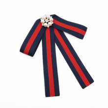 College Style bowtie Wedding Party Polyester Striped bowknot Women Bow Tie Classic Neck Wear Ribbon bowties Shirt  Accessories