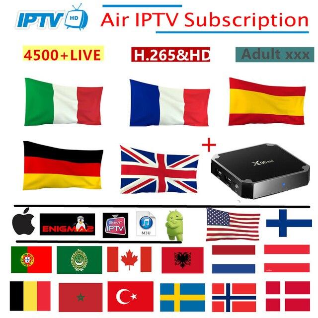 Air IPTV Subscription France Italy italia Netherlands Arabic Spain Sweden Portugal Nordic Canada USA android Smart IPTV M3U