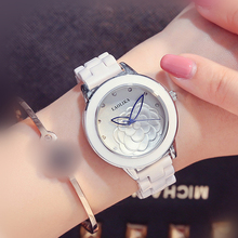 Женские часы модные трендовые женские керамические часы для женщин 2018 браслет застежка модные и повседневные подарок кварцевые часы