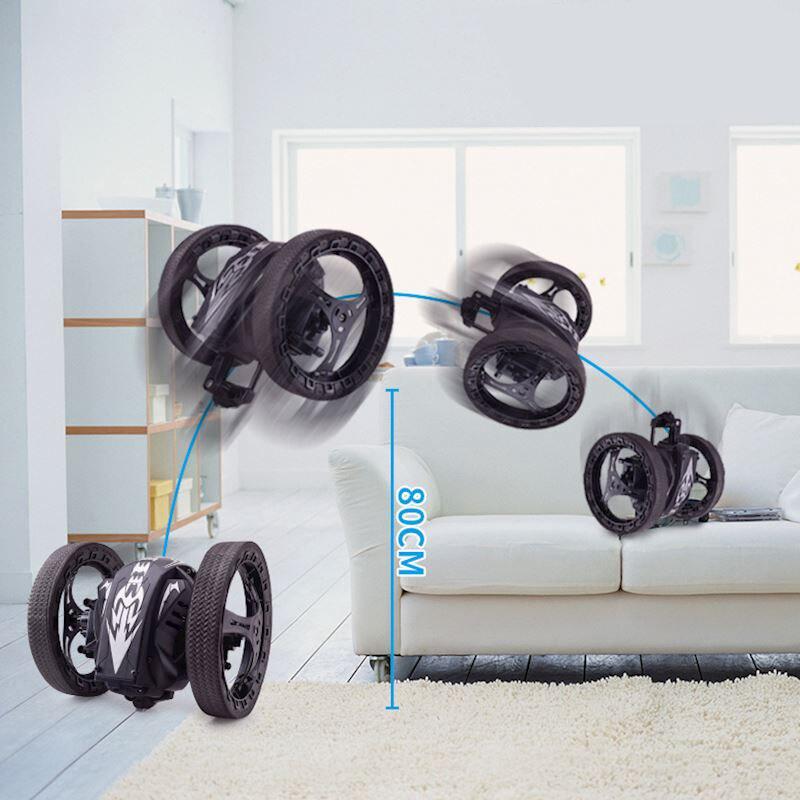 Rotation RC Car Creativity PEG SJ88 2.4GHz Mini Cars Bounce Car Electric Remote Control Car Toys LED Light with Flexible Wheels