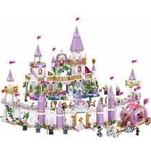 Friends Princess Windsor's Castle Bricks DIY Model Legoes Building Blocks Kit Toys Girl Birthday Christmas Gifts disney education windsor castle princess friend girl building blocks toys give your childrens the best christmas gifts
