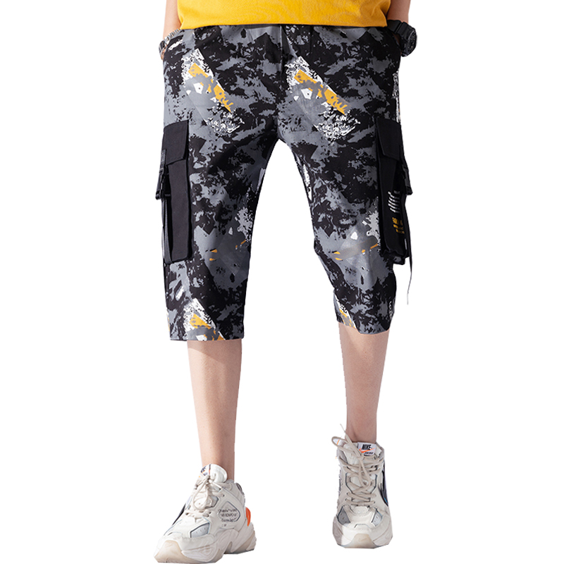 2019 New Summer Style Men Camouflage Shorts Knee Length Short Joggers Fitness Streetwear Shorts LBZ111
