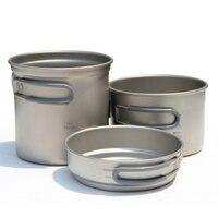 Keith Titanium Cookware Cooking Utensils Cauldron & Medium Pot & Frying Pan Outdoor Hiking Hunting Camping Cooking Set Ti6014