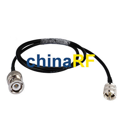все цены на 6FT BNC Male to UHF PL259 male plug jumper Pigtail Coax cable KSR195 2M for WIFI онлайн