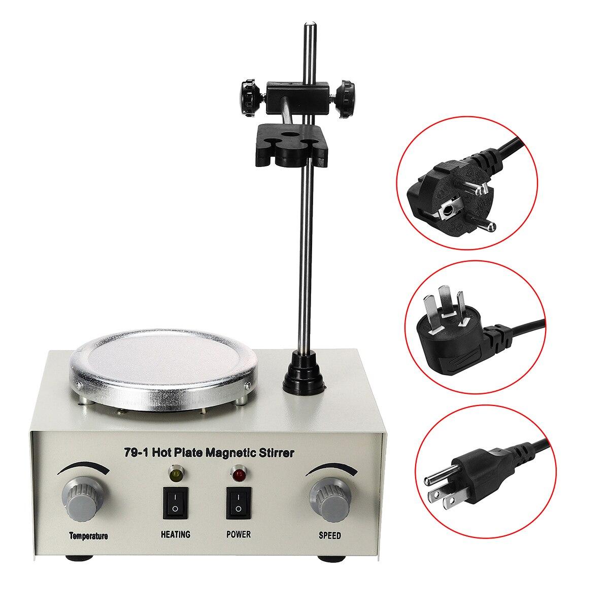 US/AU/EU 79-1 110/220 V 250 W 1000 ml agitateur magnétique à plaque chauffante mélangeur à double commande sans Protection contre les fusibles anti-bruit/vibrations - 4