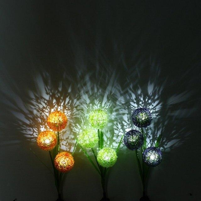 Solar Power Flower Led Rasen Licht Wasserdicht Garten Licht Yard