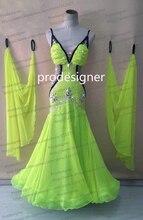 100 New Competition Slik organza ballroom Standard dance font b dress b font juvenile dance clothing