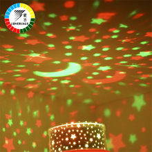 Coversage Rotating Starry Night Light Projector 2Pcs Sky Star Moon Master Baby Kids Sleeping Lamp Led Romatic Projection USB(China)