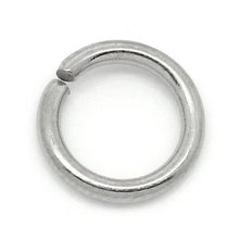 LASPERAL 500PCs 6mm Stainless Steel Open Jump Rings Round Sp