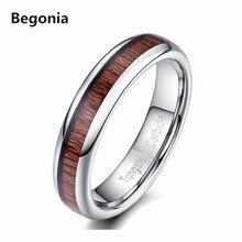 5mm de ancho de la moda retro de madera del grano diseño tungsten carburo anillos para las mujeres y de los hombres anillos de boda