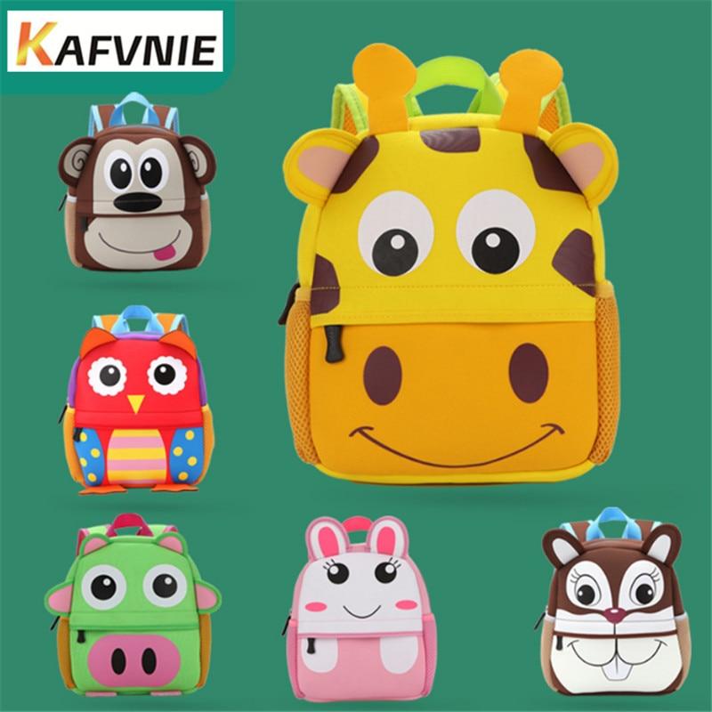 2018 New 2-5 Year Old Cartoon School Bags For Boys Waterproof Backpacks Child  Owl Book Bag Kids Shoulder Bag Satchel Knapsack