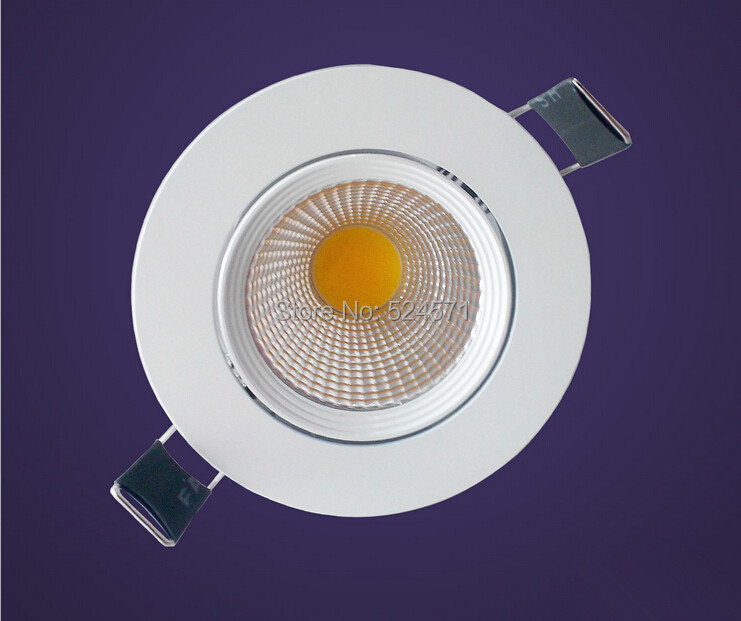 Brightest Recessed Lighting Bulbs : Super bright w dimmable cob led down light recessed