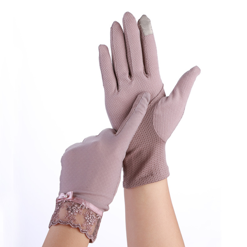 Touch Screen Girls Gloves Women Summer Autumn Breathable Stretch Lace Gloves Anti Uv Slip Resistant Driving Glove Phone Guantes
