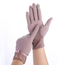 Touch Screen Girls Gloves Women Summer Autumn Breathable Stretch Lace Gloves Anti Uv Slip Resistant Driving Glove Phone Guantes summer sunscreen silk sleeves drive womens sexy thin gloves summer lace gloves driving lace guantes guantes sin dedos para mujer