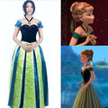 Hot snow princess anna coronation outfit dress anna cosplay stage costume for adult woman complete set suit skirt