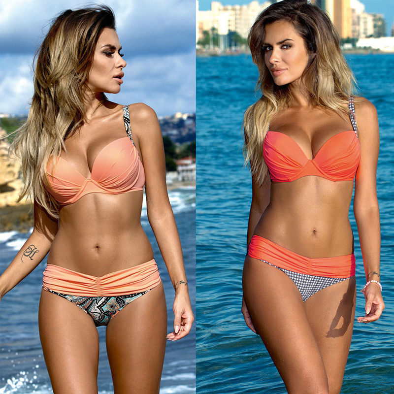 New Bikini Set 2016 Summer Low Waist Swimwear Women Sexy Bench Swimsuit Bathing Suit Push Up Biquini Brazilian Maillot De Bain new cute girls sexy bikini women swimwear push up bra biquini low waist mini skirt bottom agate jewelry bikini set swimsuit