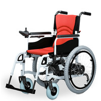 BZ 6101 Steel High Quality Folded And Safety Folding Electrical Wheelchair For Disabled And Elderly People