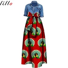 2019 plus size African women's skirt Fashion print large size bow waist skirt Woman clothing skirt cotton batik  African skirt