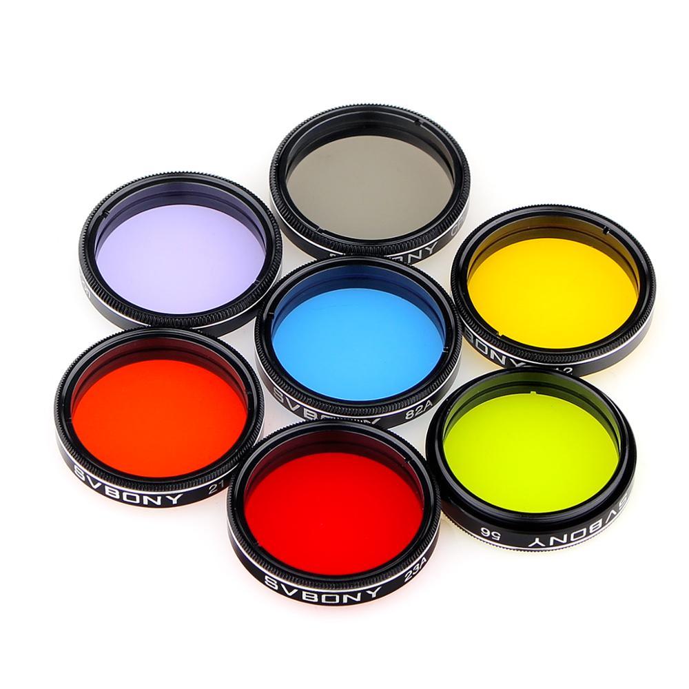 "SVBONY 1.25"" Moon Filter+CPL Filter+Five Color Filter Kit ..."