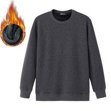 Осенне-зимняя обувь Новый Круглый воротник Для мужчин кофты толщиной сплошной цвет верхняя одежда пуловер куртка Размеры м до 6XL