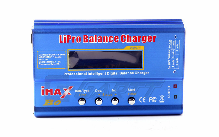 Freeshipping 80W Imax B6 LCD Screen RC Lipo/NiMh/Li-ion/Life Battery Lipro Balance Charger